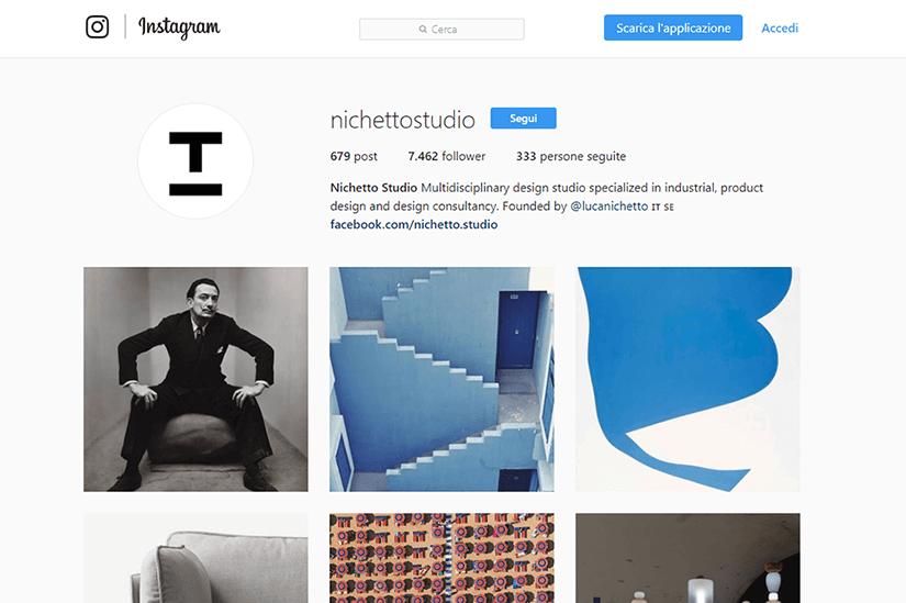 Trova l'ispirazione su Instagram: designer, bozzetti, video. Nichetto Studio