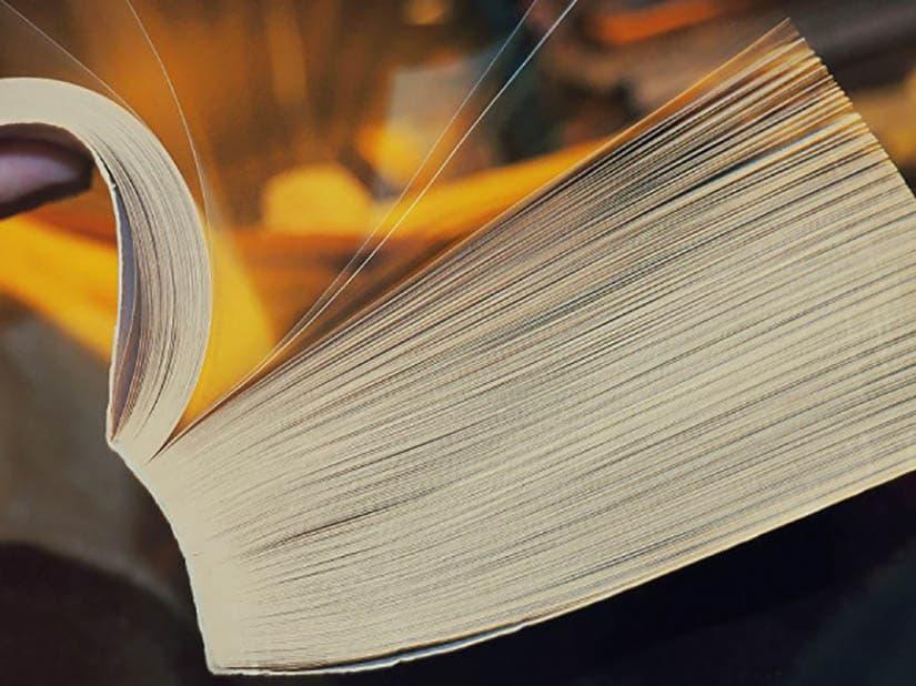 libro rilegato in brossura fresata
