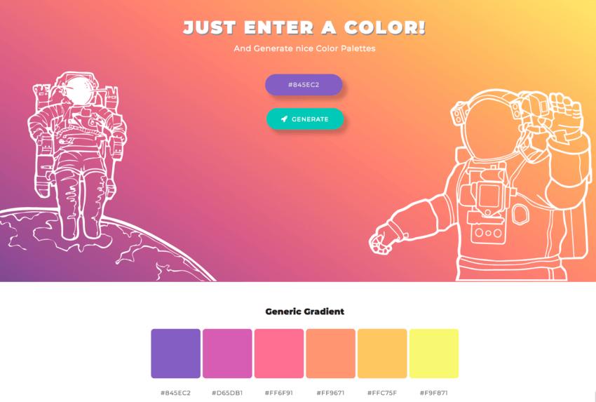 Palette colori per grafici: ColorSpace