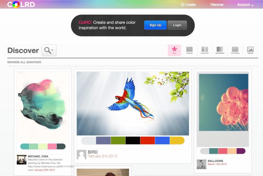 Palette colori per grafici: Colrd