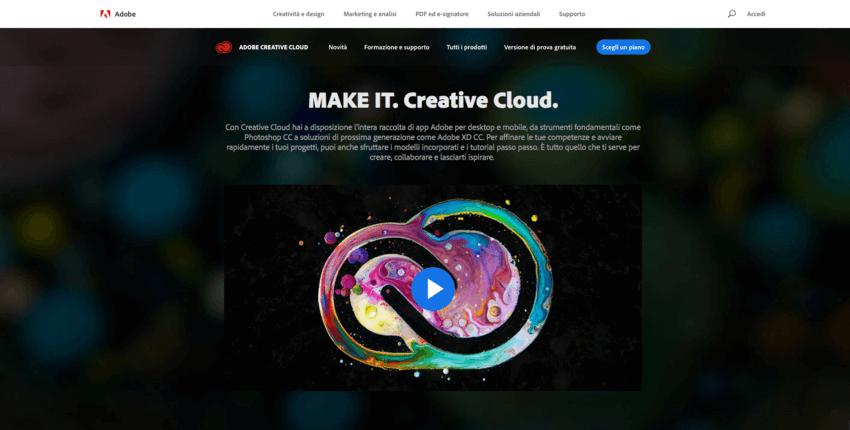 I migliori programmi di grafica: Adobe Creative