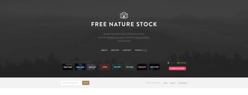 I migliori siti per immagini senza copyright: Free nature stock