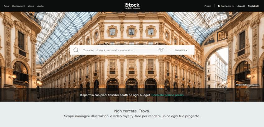 I migliori siti per immagini senza copyright: istock