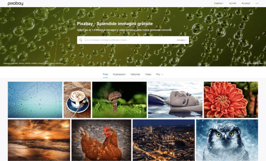 I migliori siti per immagini senza copyright: Pixabay