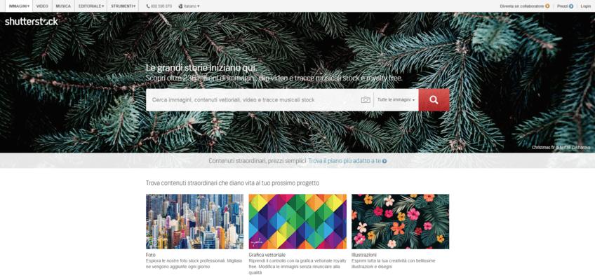 I migliori siti per immagini senza copyright: Shutterstock