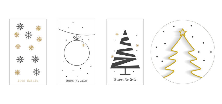 Modelli di biglietti di auguri di Natale