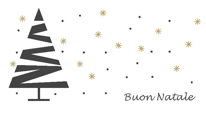 Modello di biglietto di auguri di Natale