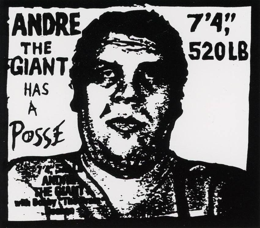 Andre the Giant Has a Posse di Obey-Sticker art