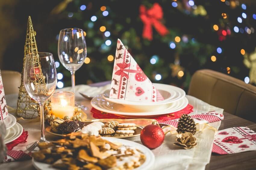 Addobbi tavola di Natale