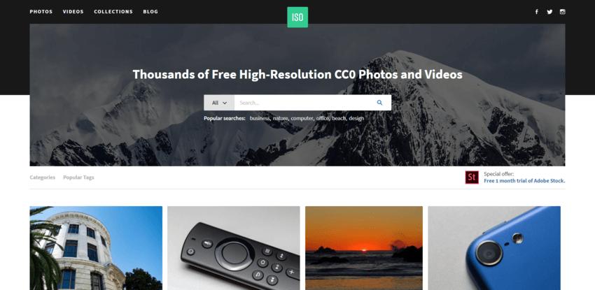 siti dove trovare e scaricare foto gratis: ISO Republic