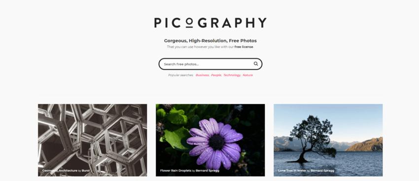 siti dove trovare e scaricare foto gratis: Picography
