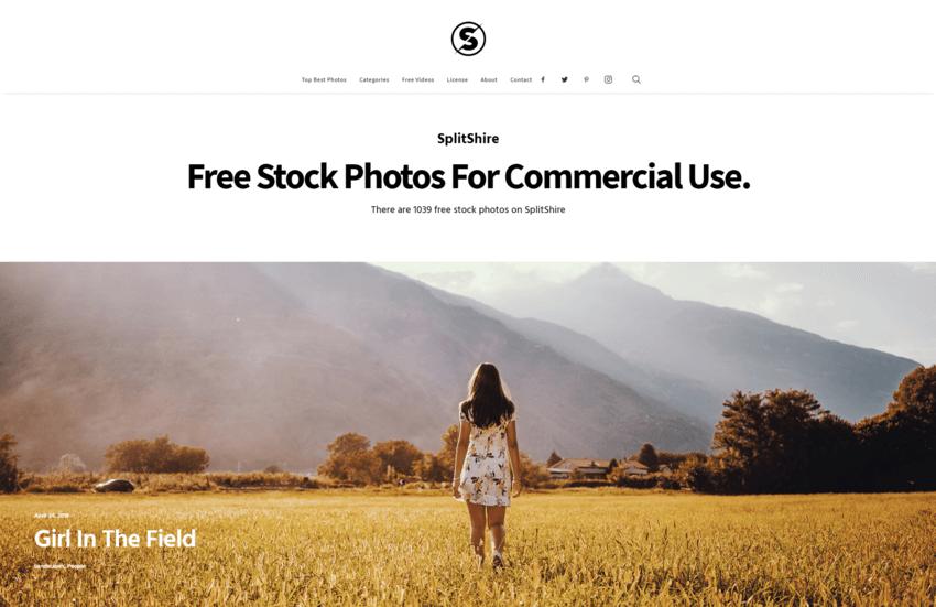 siti dove trovare e scaricare foto gratis: SplitShire