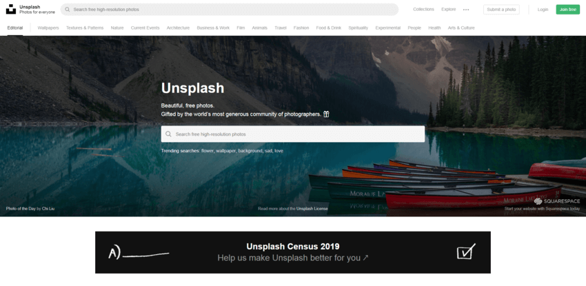 siti dove trovare e scaricare foto gratis: Unsplash